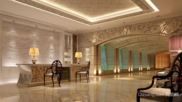 200平米国际欧式奢华酒店大堂装修效果图