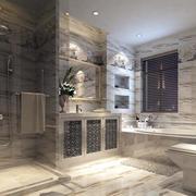 大型别墅欧式奢华风格印花卫生间装修效果图
