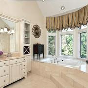 新古典大别墅卫生间窗帘效果图片