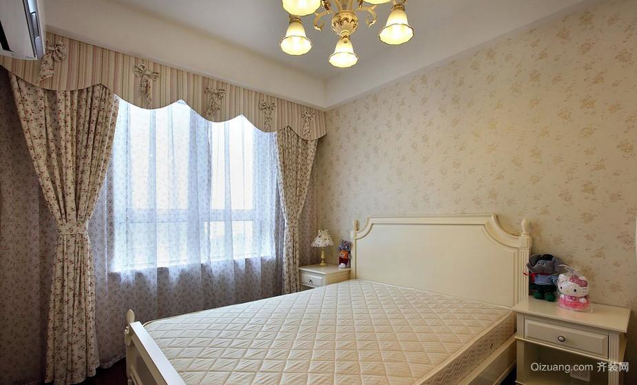 现代两室一厅主卧室液体壁纸欣赏