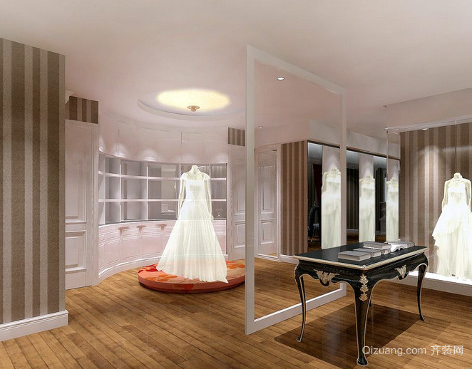 120平米现代简约风格婚纱影楼化妆台装修