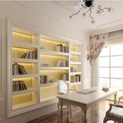 田园简约183平米别墅书房壁柜装修展示