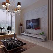 现代130平米婚房客厅电视背景墙效果图