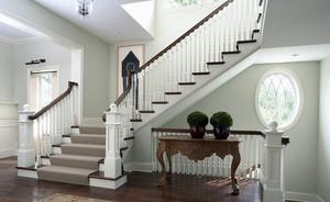 简欧大别墅房屋唯美实木楼梯装修效果图
