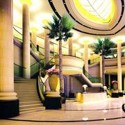 欧式奢华酒店大堂楼梯装饰