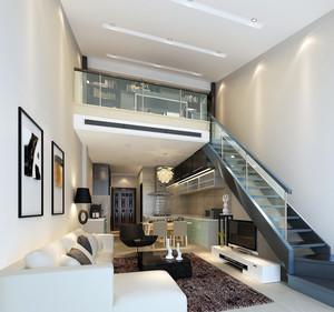 小户型跃层房屋唯美铁艺楼梯装修效果图