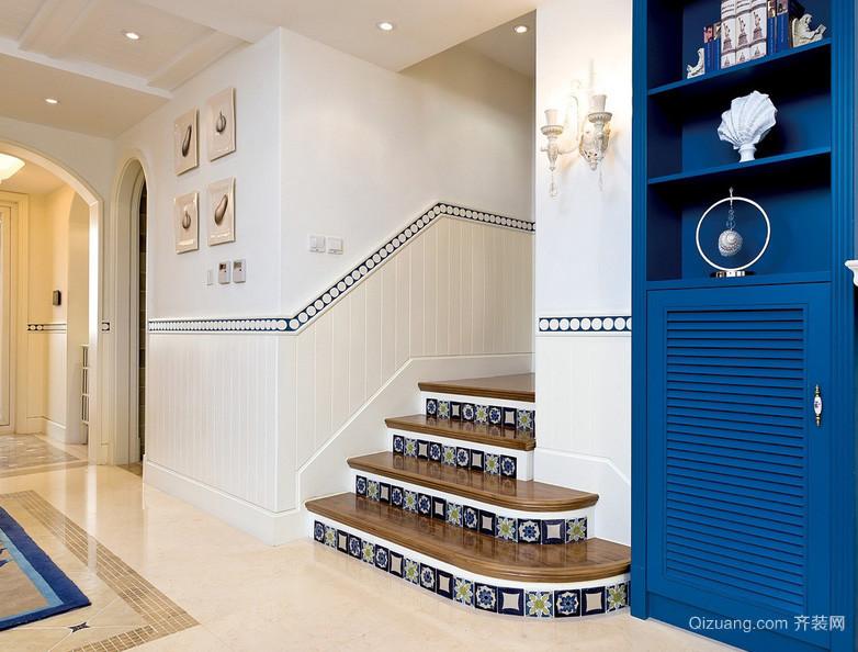 197平米地中海风格房屋唯美小楼梯装修图