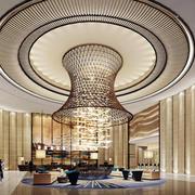 欧式风格酒店大堂圆形吊顶装饰