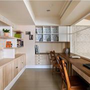 170平米房屋小阁楼田园书房壁柜装修展示