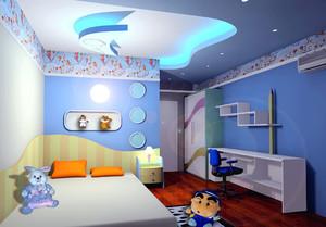 梦幻现代15平米儿童房吊顶装饰设计图片