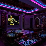 大型现代简约风格歌舞厅电视背景墙装饰