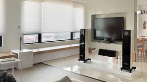 后现代风格楼房客厅电视背景墙装饰