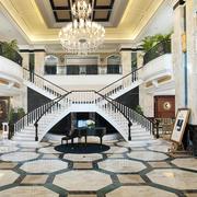 酒店奢华大气大堂装饰