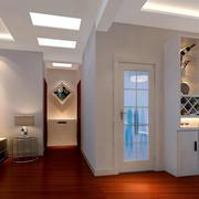 复式楼现代简约风格过道吊顶装修效果图