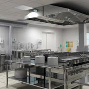 钢化材料厨房装修效果图