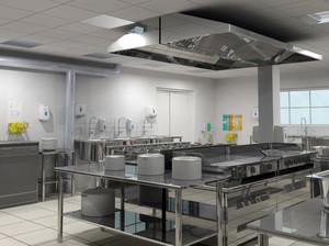 180平米现代简约风格大型酒店厨房装修效果图