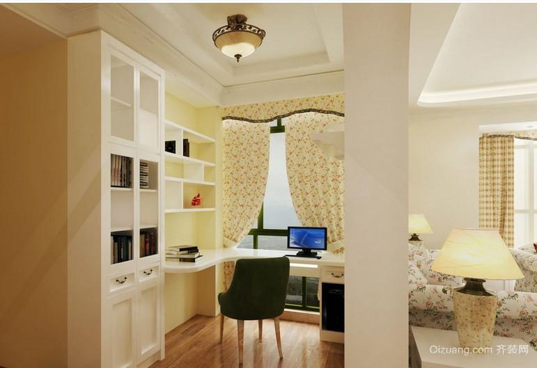 小女生公寓田园开放式书房壁柜装修展示