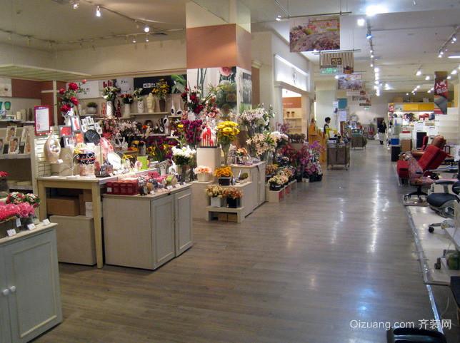 90平米现代简约风格大型花店装修效果图
