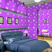紫色调壁纸装修图片