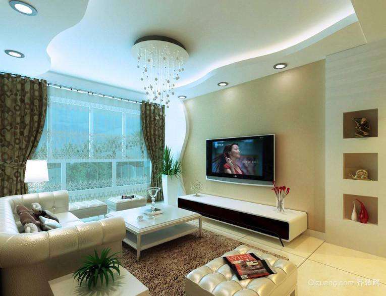 60平米小户型客厅装修设计效果图实例
