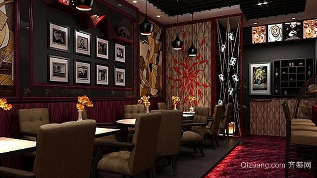 140平米大型美式简约风格咖啡馆装修效果图