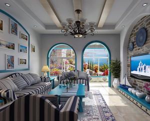 100平米大户型地中海风格别墅装修效果图实例