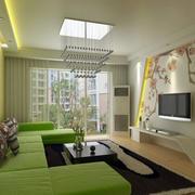 现代简约风格楼房客厅装修