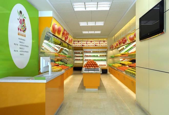 现代50平米彩色水果店装修效果图装修效果图