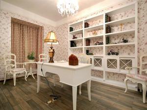 韩式田园160平米家居书房壁柜装修展示