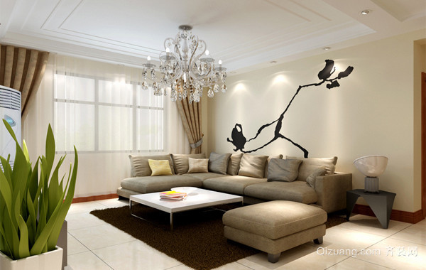 2016别墅型唯美的欧式家装客厅装修效果图欣赏