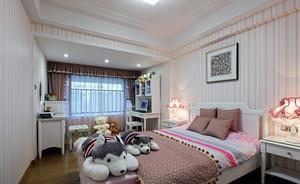 粉色甜美20平米女生小卧室液体壁纸欣赏