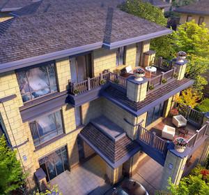 120平米大型洋楼韩式清新风格露台装修效果图