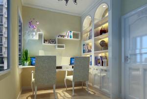 97平米房屋田园书房壁柜装修效果展示