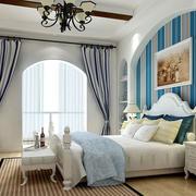 地中海风格楼房卧室装修效果图