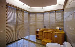 现代280平米独栋别墅浴室窗帘效果图片