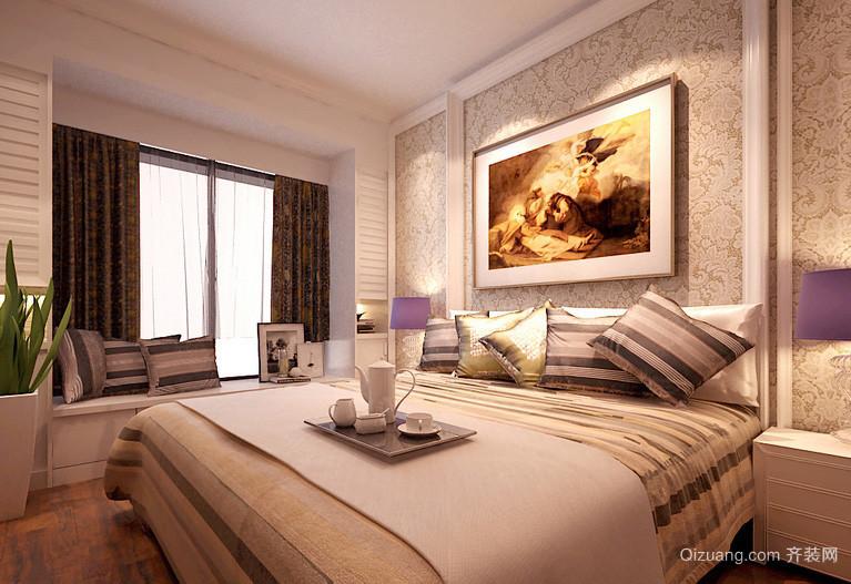 现代浅色调三室一厅卧室液体壁纸欣赏