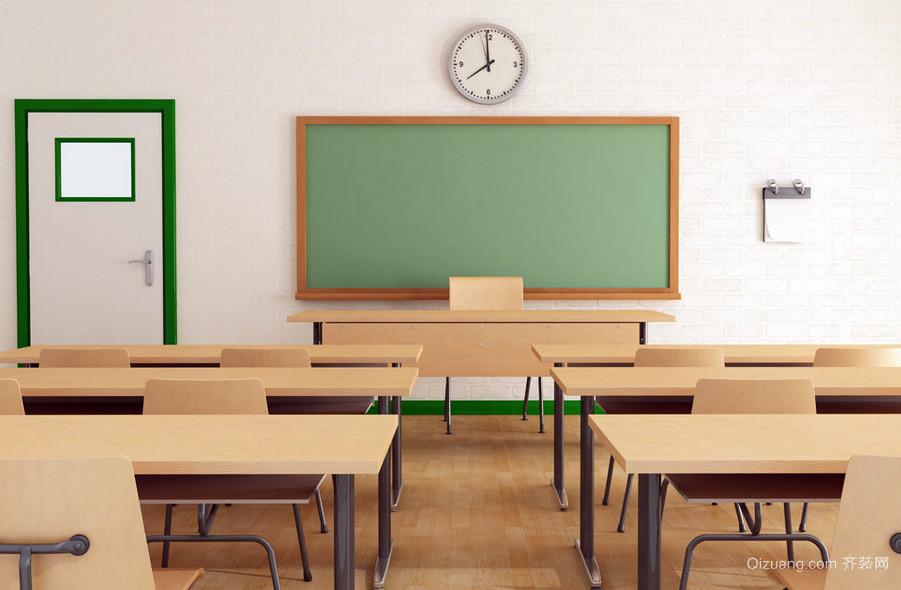 现代初中学校简约教室装修设计效果图