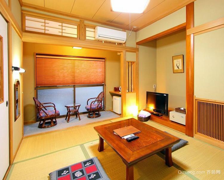 日式小户型客厅传统榻榻米装修效果图