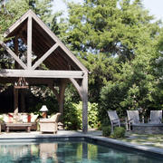 自然迷人独栋别墅庭院阳光房装修设计图