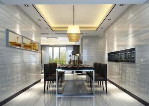 简约二层别墅豪宅餐厅装修设计效果图