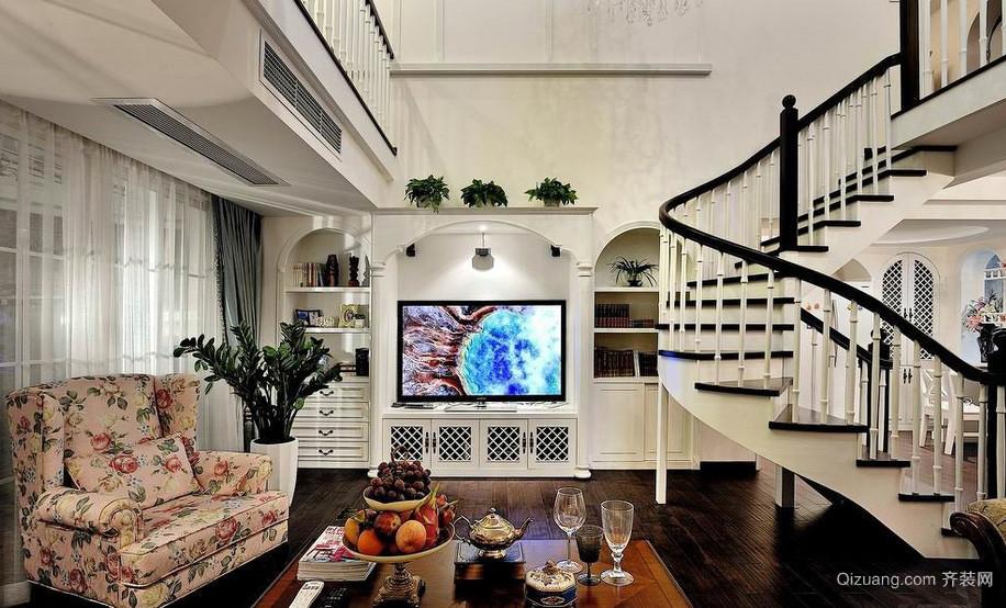 现代豪华别墅玄关地板拼花装修图片大全