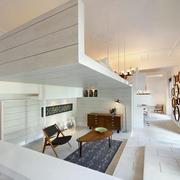 摩登前卫65平米一居室纯白色背景图片