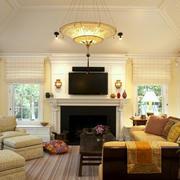 简约美式小别墅客厅装修图片大全