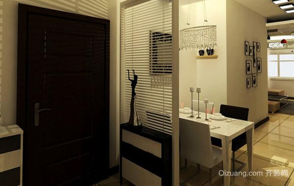 120平米客厅现代简约风格玄关隔断装修效果图