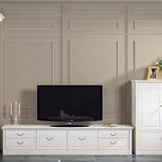 复式楼欧式简约风格电视柜装修效果图