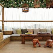 中式风格阳台装饰效果图
