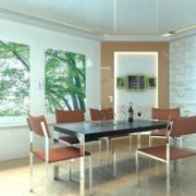 大户型完美欧式大气的餐厅背景墙装修效果图欣赏