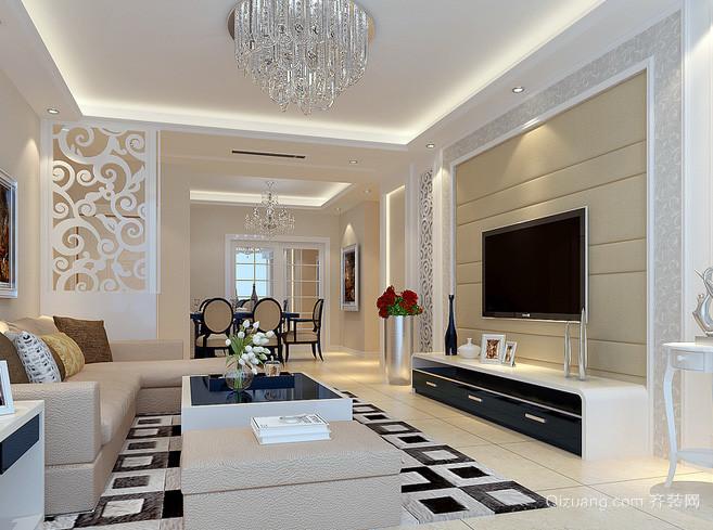 两室一厅后现代风格简约电视柜装修效果图