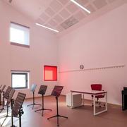 现代艺术学校音乐教室装修设计效果图