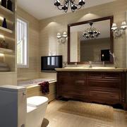 卫生间简欧风格置物架装饰